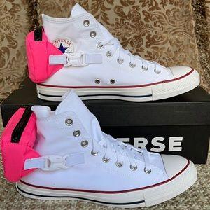 Converse CTAS Buckle Up Hi White/Neo Pink/White MN